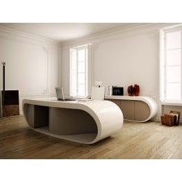 Exemple de bureau de direction Goggle Desk par le fabricant de mobilier design italien Babini. Source : www.amm-mobilier.com